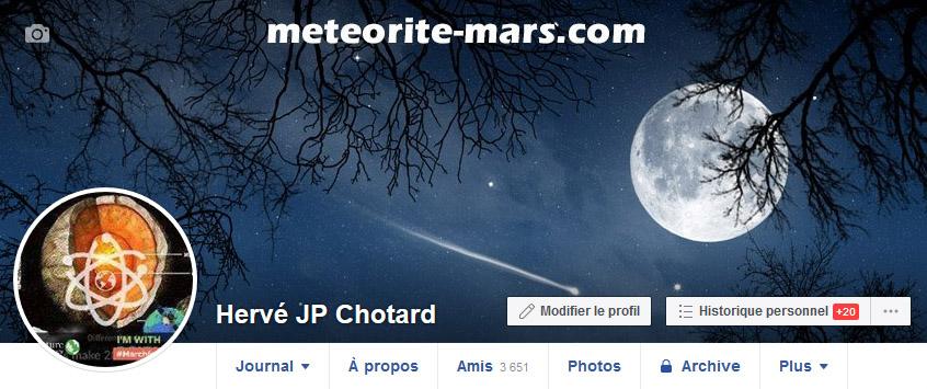 Compte personnel d'Hervé JP CHOTARD meteorite-mars.com