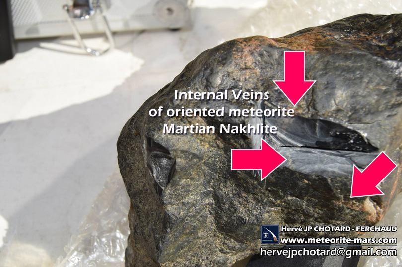 oriented meteorite nakhlite