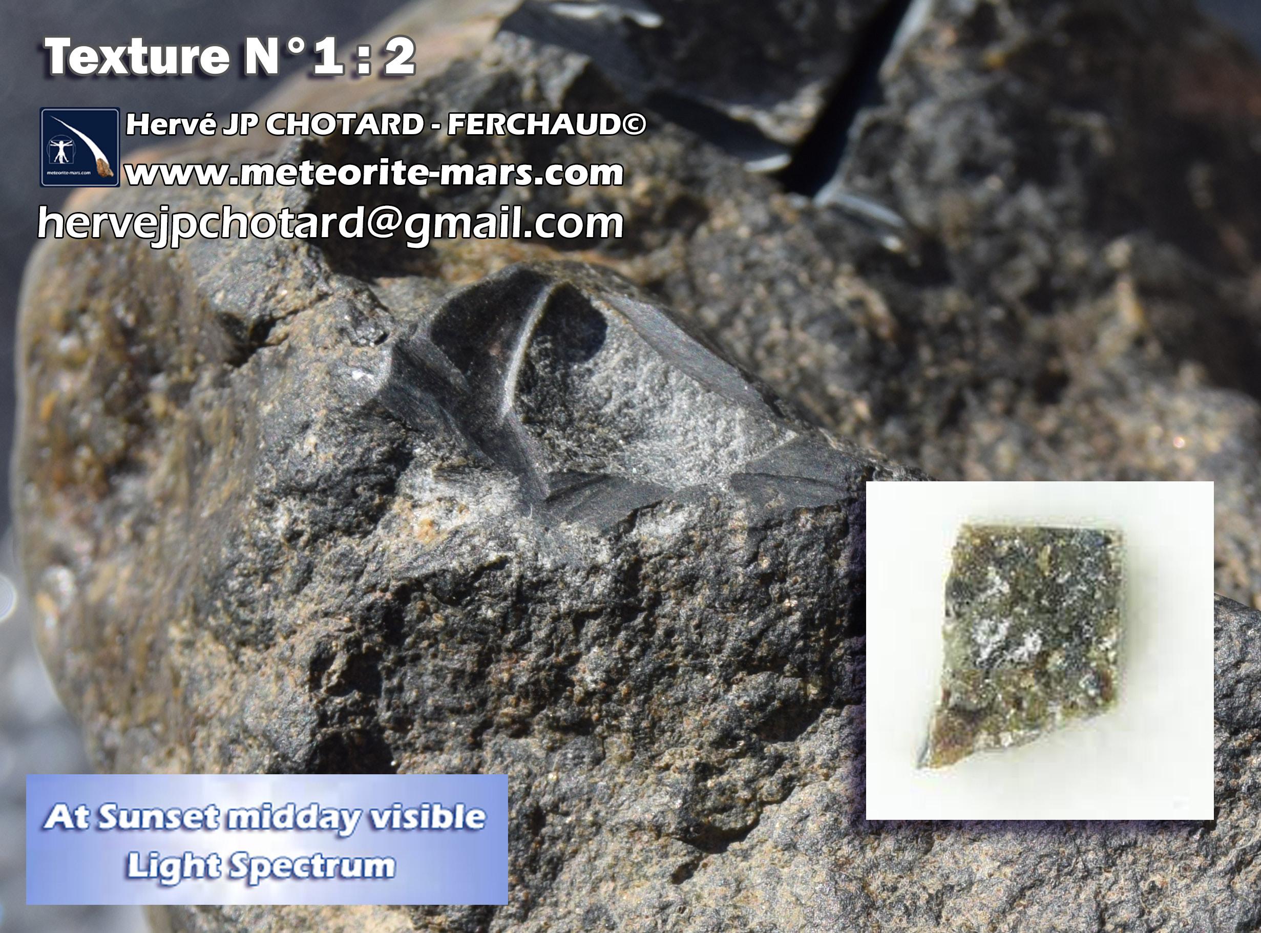 Texture N°1-2 meteorite chizé de mars