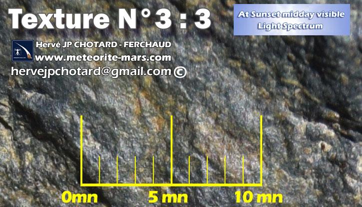 Texture N 3-3 meteorite chizé de mars