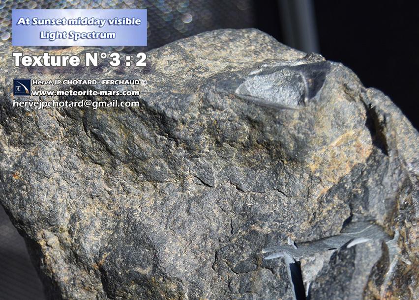Texture N 3-2 meteorite chizé de mars