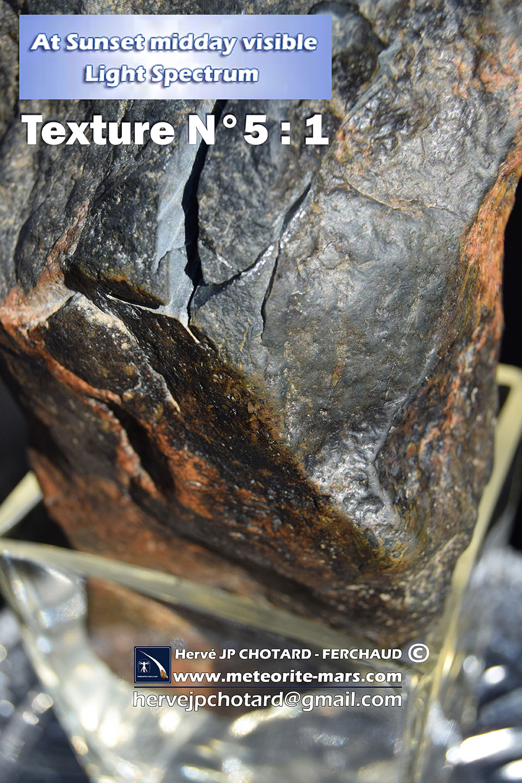Texture N 5-1 meteorite chizé de mars