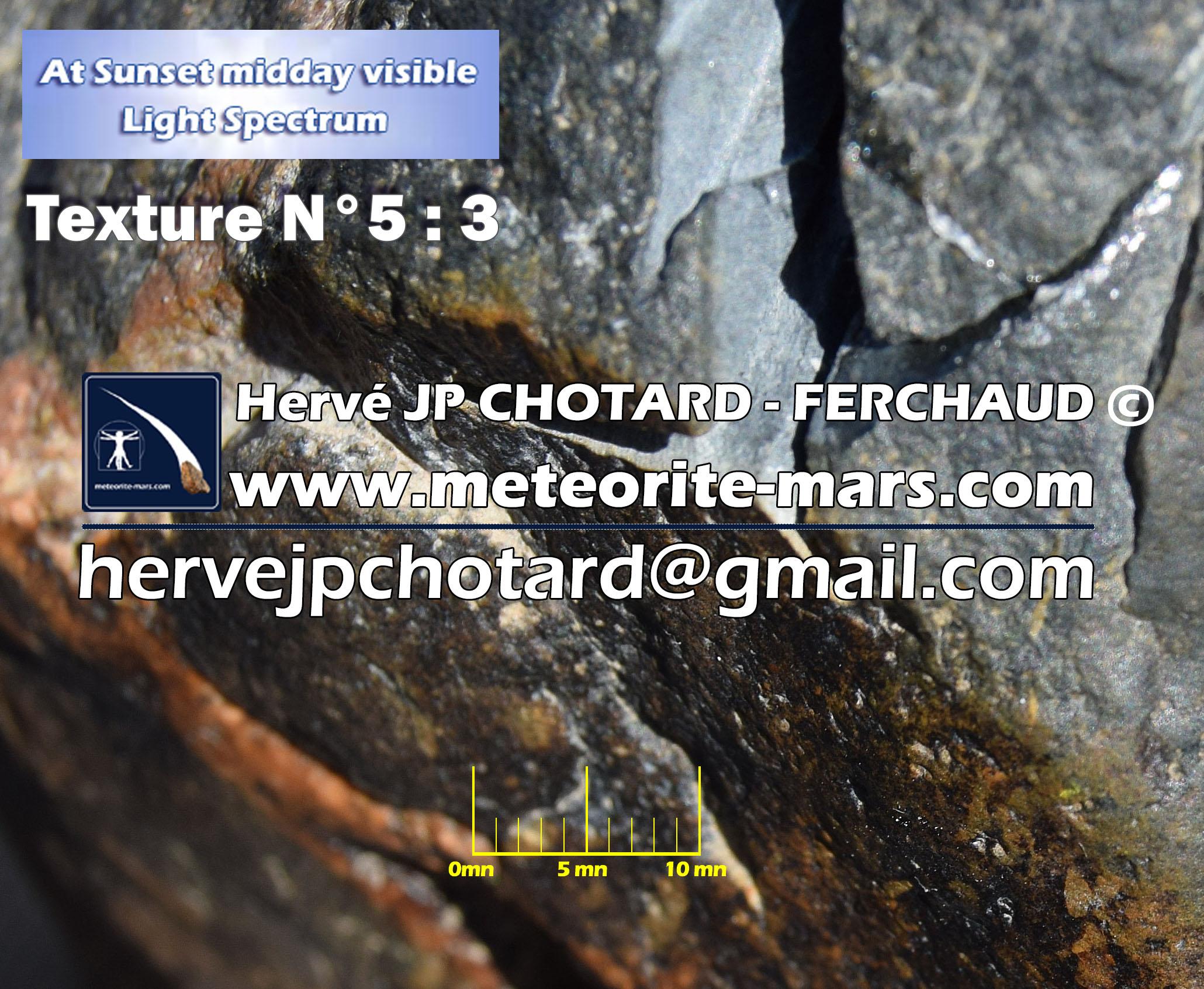 Texture N 5-3 meteorite chizé de mars